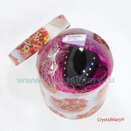 Чашка и блюдце со стразами  www.crystalmary.ru