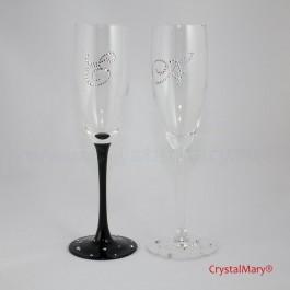 Бокалы со стразами  www.crystalmary.ru