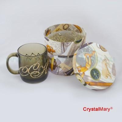 Чашка со стразами www.crystalmary.ru