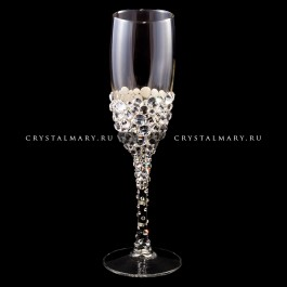 Фужер со стразами Сваровски ХL  www.crystalmary.ru