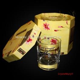 Бокал с двумя инициалами. цвет Crystal  www.crystalmary.ru