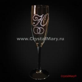 Роспись свадебных бокалов  www.crystalmary.ru