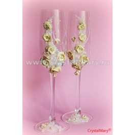 Свадебные бокалы  www.crystalmary.ru