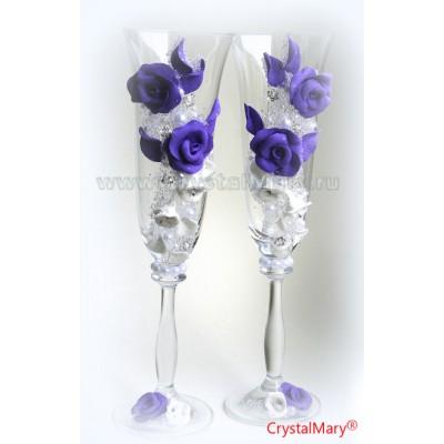 Красивые свадебные бокалы www.crystalmary.ru