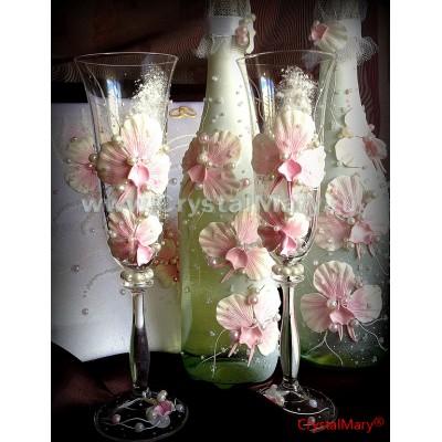 Изготовление свадебных бокалов www.crystalmary.ru