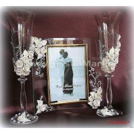 Праздничные бокалы под шампанское  www.crystalmary.ru