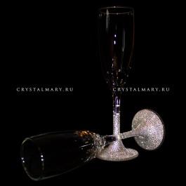 Новогодние бокалы со стразами Swarovski (Австрия)  www.crystalmary.ru