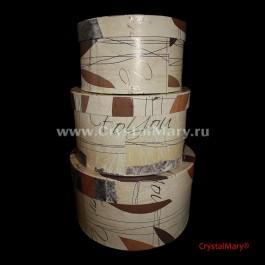 Подарочные коробки в ассортименте круглые  www.crystalmary.ru