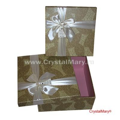 Большая подарочная коробка с бантом  www.crystalmary.ru