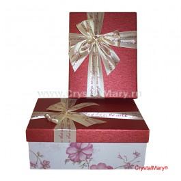 Красивая подарочная коробка с крышкой  www.crystalmary.ru