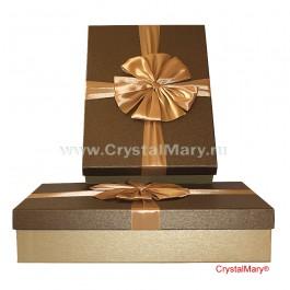 Стильная подарочная коробка с бантом  www.crystalmary.ru