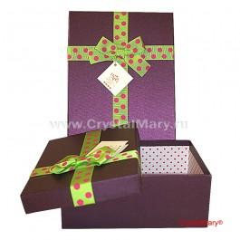 Подарочная коробка с крышкой  www.crystalmary.ru