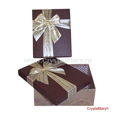 Подарочная коробка с бантом www.crystalmary.ru