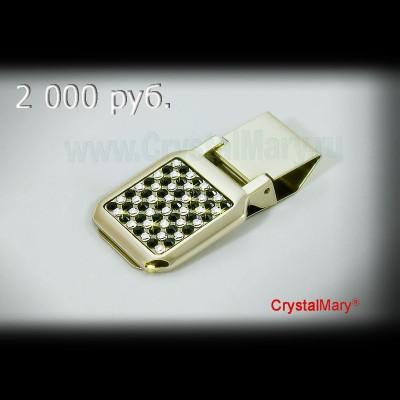 Держатель для денег со стразами www.crystalmary.ru
