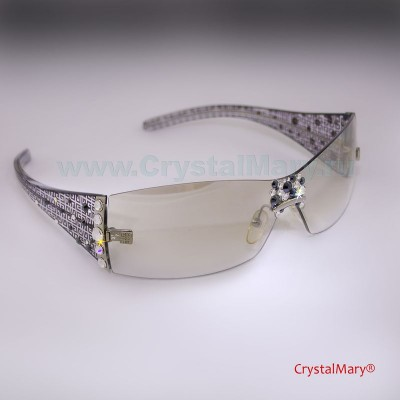 Очки со стразами Сваровски  www.crystalmary.ru