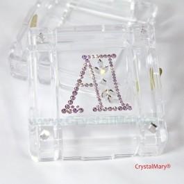 Инициалы из страз Swarovski  www.crystalmary.ru