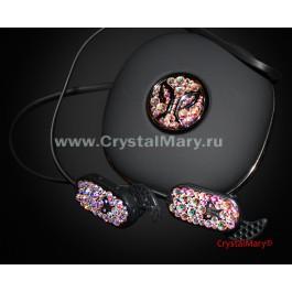 Инкрустация наушников  www.crystalmary.ru