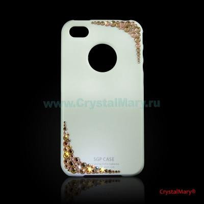 Панель для iPhone золотые уголки www.crystalmary.ru
