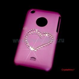Крышка на iPhone 3G: Сердце www.crystalmary.ru
