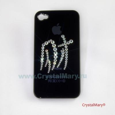 Панель на iPhone 4G Любовь и счастье www.crystalmary.ru