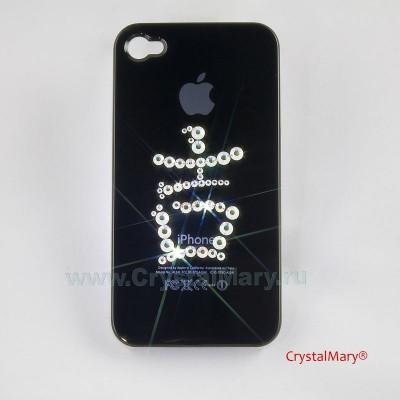 Крышка на iPhone 4 : Китайский символ - Богатство www.crystalmary.ru