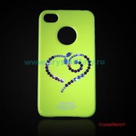 Панель iPhone Сердечко  www.crystalmary.ru