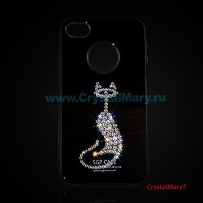 Панель iPhone Кошечка www.crystalmary.ru