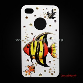Крышка для iPhone 4 и для iPhone 4S  www.crystalmary.ru