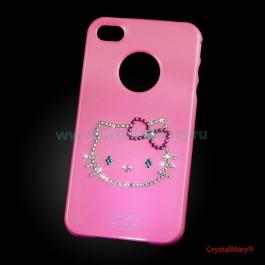 Крышка на iPhone 4G Китти  www.crystalmary.ru