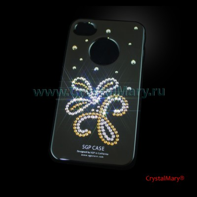 Крышка на iPhone 4G/S www.crystalmary.ru
