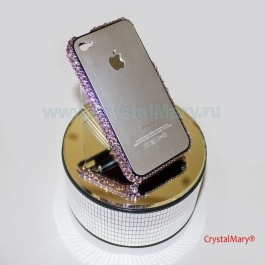 Бампер для iPhone 4 в нежно сиреневом www.crystalmary.ru