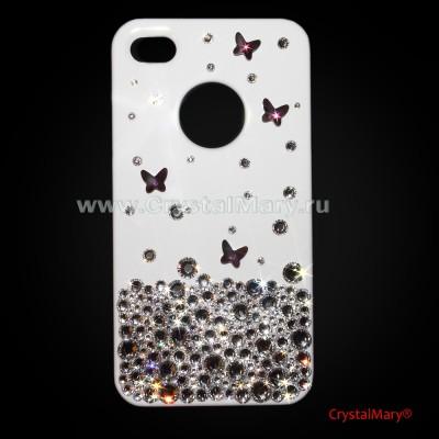 Бриллиантовая россыпь с аметистовыми бабочками www.crystalmary.ru
