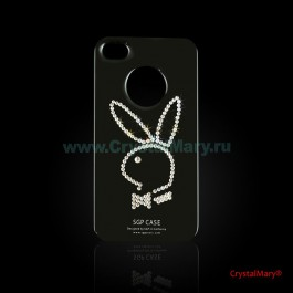 Плейбой на iPhone 4G  www.crystalmary.ru