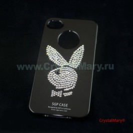 Панель на iPhone 4G/S PlayBoy www.crystalmary.ru