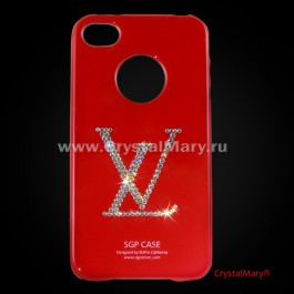 Чехол SGP для iPhone 4 красный Louis Vuitton  www.crystalmary.ru