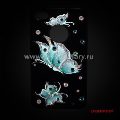 Icover для iPhone 4S и 4, бабочки www.crystalmary.ru