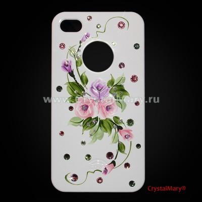 iСover для iPhone 4G 4S цветы www.crystalmary.ru