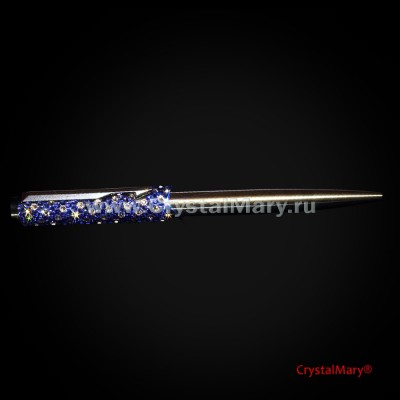 Parker. Ручка со стразами Swarovski. Sapphire + Crystal www.crystalmary.ru