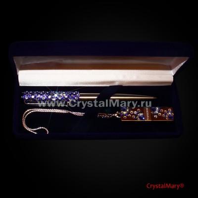 Набор Ручка Parker и флешка 16Gb Sapphire+Crystal www.crystalmary.ru