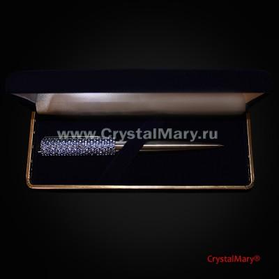 Ручка: Голубая лазурь  www.crystalmary.ru