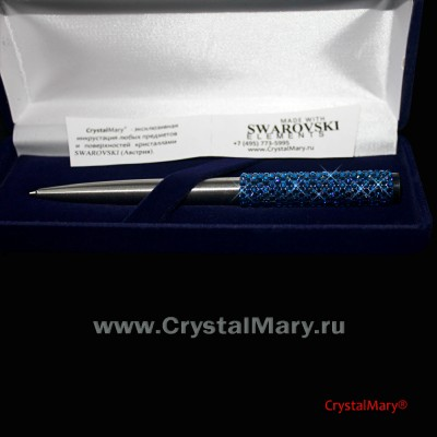 Parker Vector Stainless Steel с кристаллами Сваровски  www.crystalmary.ru