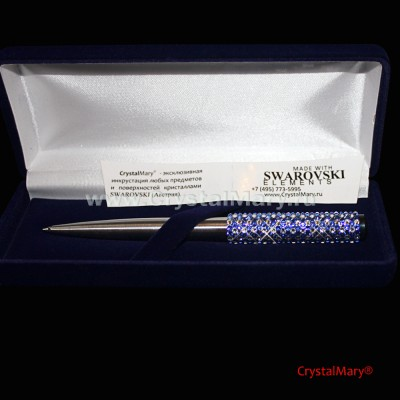 Parker Vector Stainless Steel с кристаллами Сваровски  www.crystalmary.ru