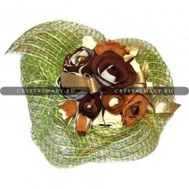 Букет чайных роз из конфет  www.crystalmary.ru