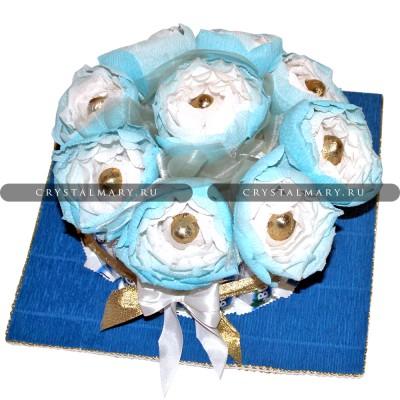 "Торт из шоколадок ""Bounty"" www.crystalmary.ru"