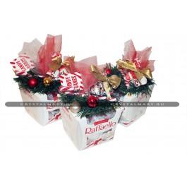 Новогодние подарки конфеты Рафаэлло  www.crystalmary.ru