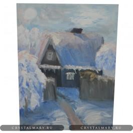 Картины маслом: Зимний день  www.crystalmary.ru