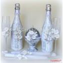 Декор стеклянных бутылок www.crystalmary.ru