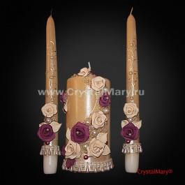 Свадебные свечи  www.crystalmary.ru