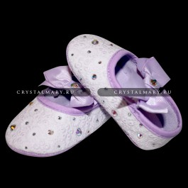 Первая обувь для малыша: пинетки со стразами Swarovski (Австрия)  www.crystalmary.ru