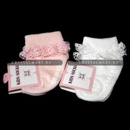 Носочки для новорожденных  www.crystalmary.ru